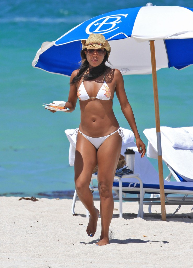 GABRIELLE UNION in Bikini at the Beach in Miami