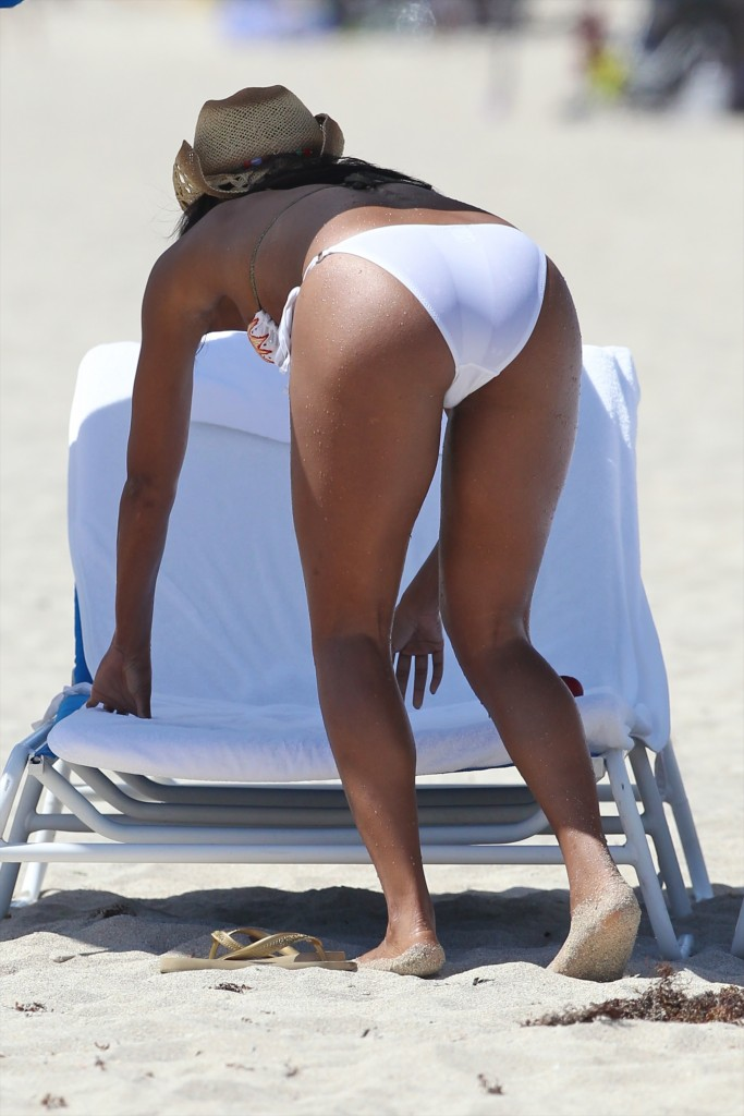 Gabrielle Union in white bikini sexy ass