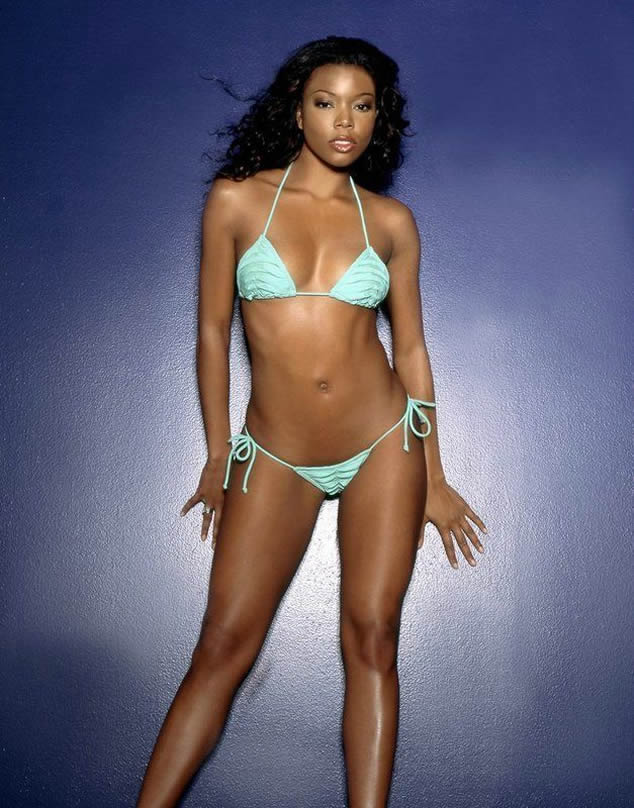 Gabrielle Union in white bikini sexy body