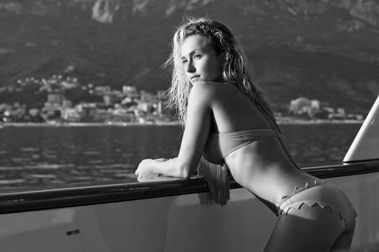 Hayden Panettiere White Bikini