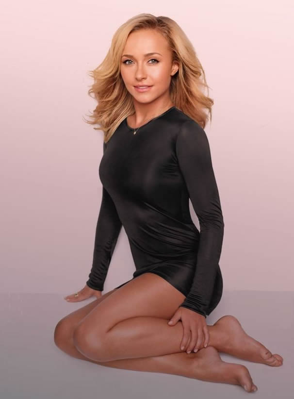 Hayden Panettiere in black dress