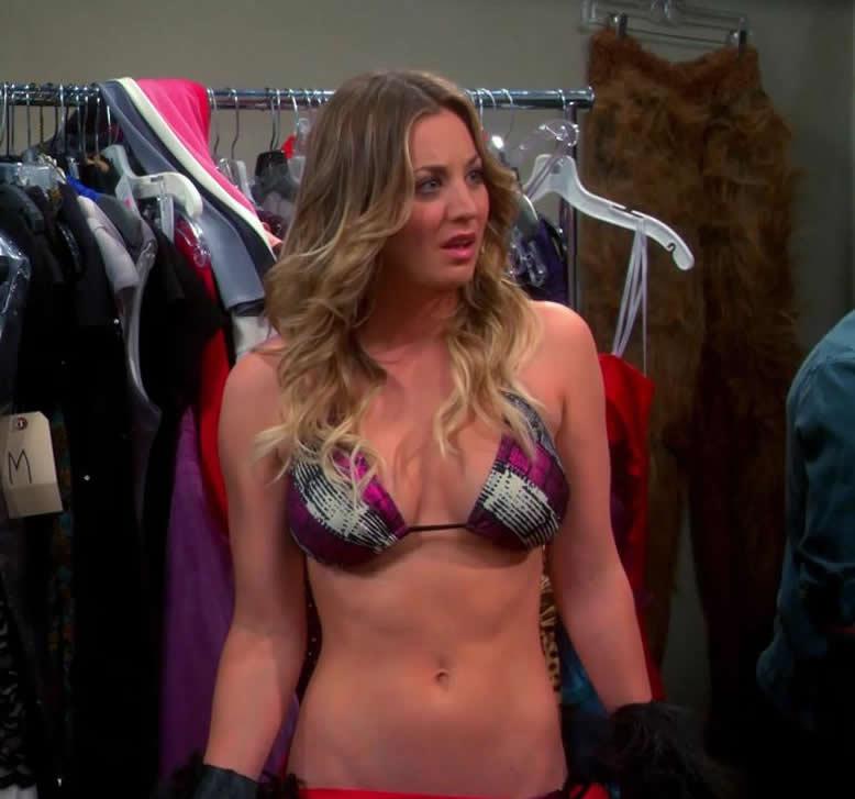 Kaley Cuoco in bikini The Big Bang Theory