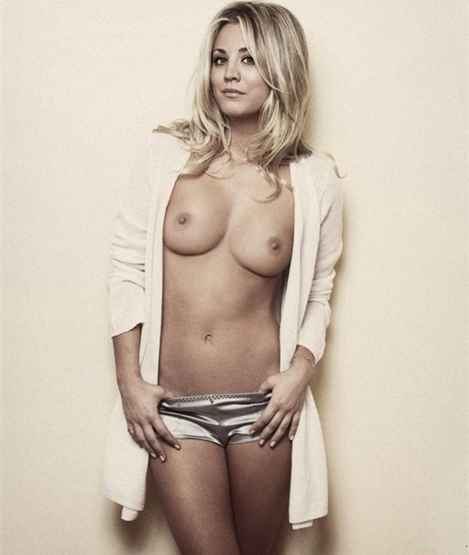 Kaley Cuoco topless
