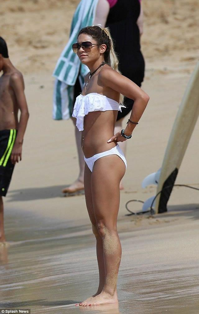 Vanessa Hudgens in white bikini