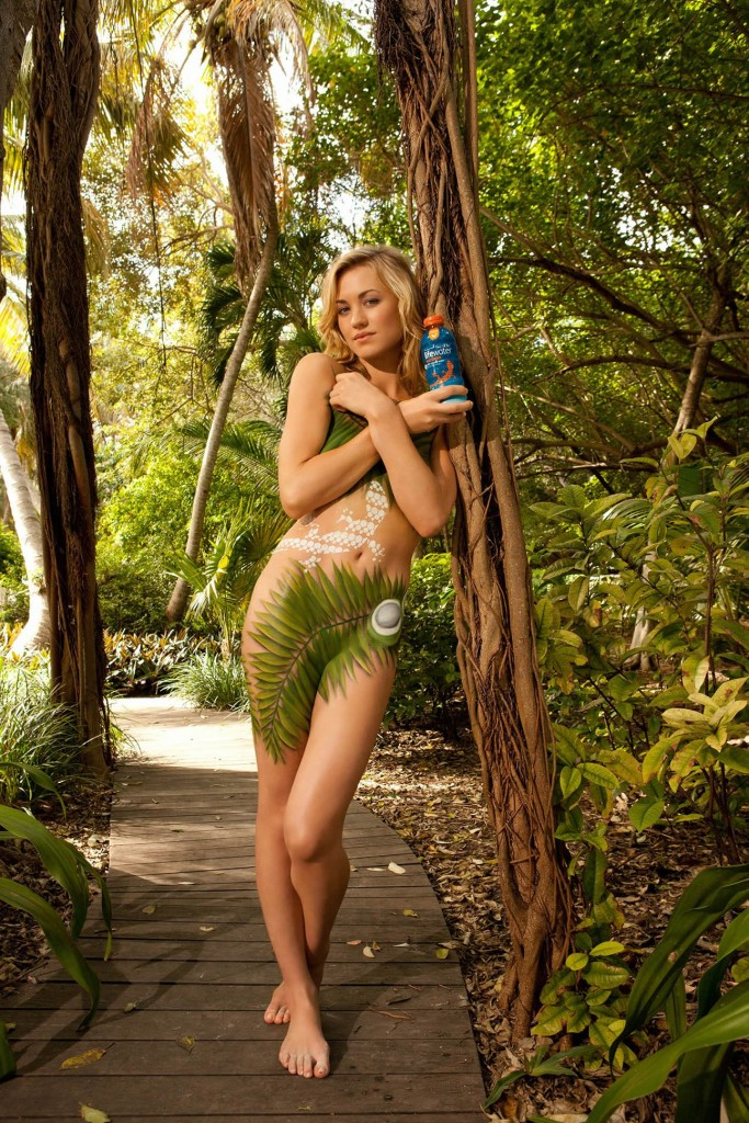 Yvonne Strahovski Body Paint naked