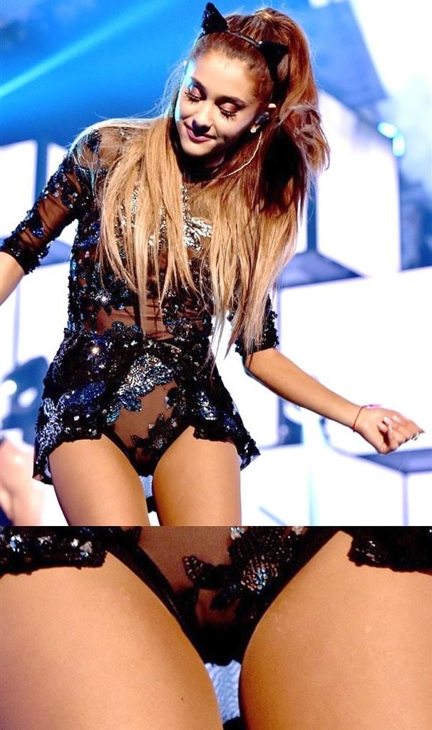 Ariana Grande Half-Nude Pussy on stage