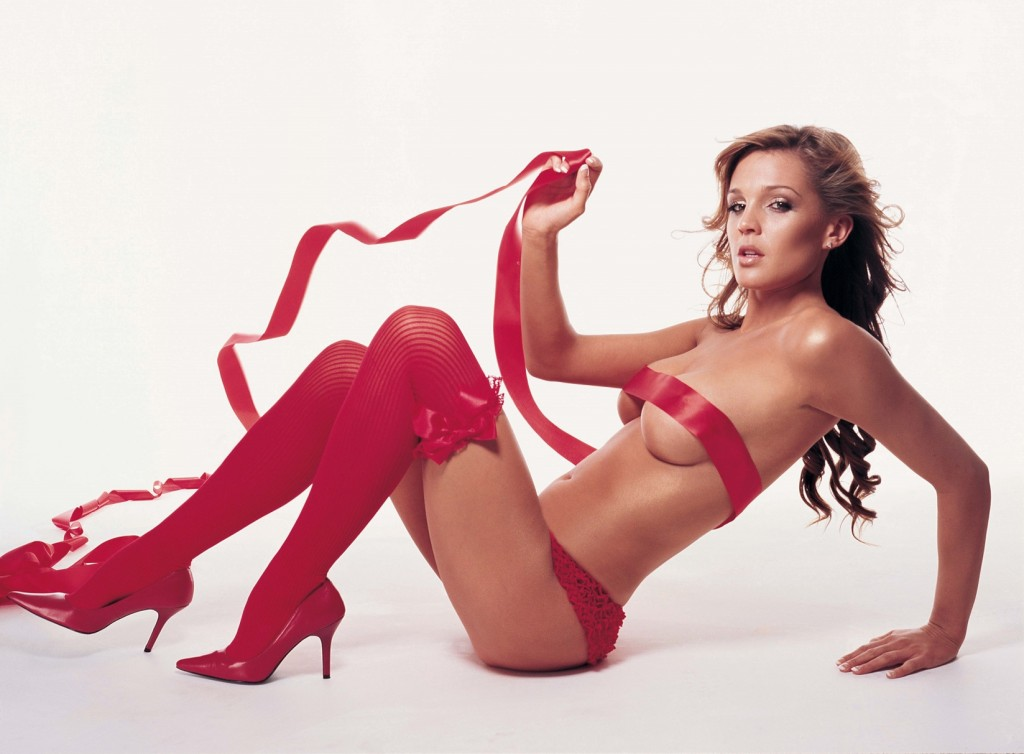 Danielle Lloyd in red panties