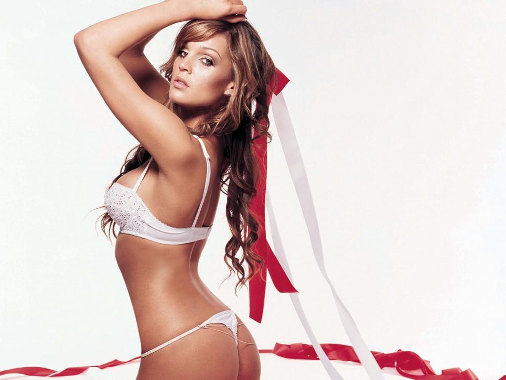 Danielle Lloyd sexy body in white panties