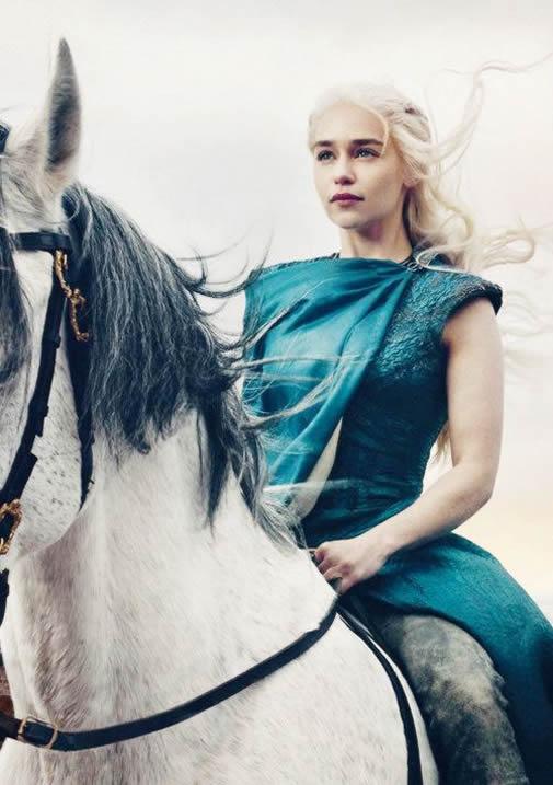 Emilia Clarke Mother of Dragons Photo