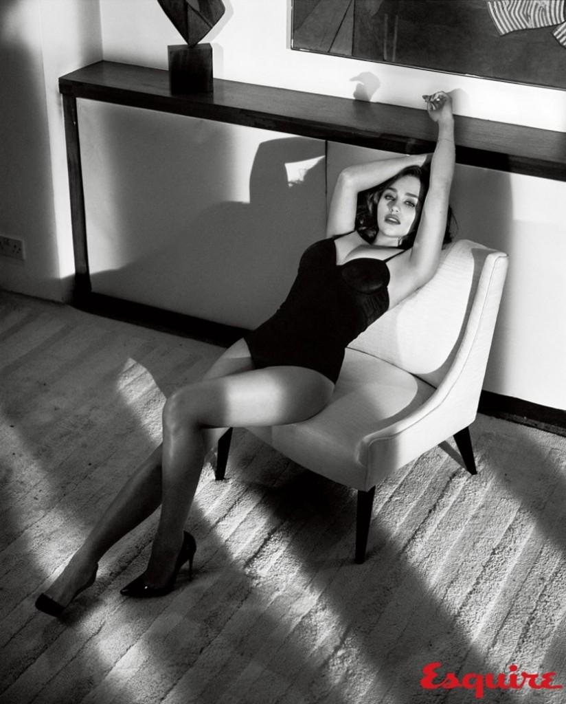 Emilia Clarke posing for esquire