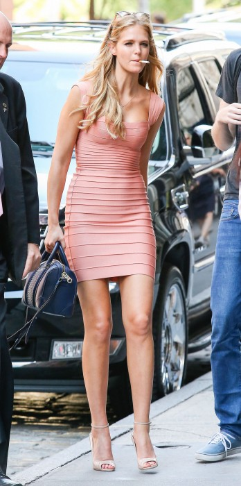 Erin Heatherton Street Style in sexy dress