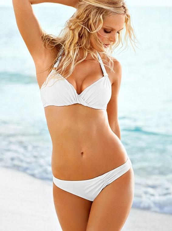 Erin Heatherton in White Bikini
