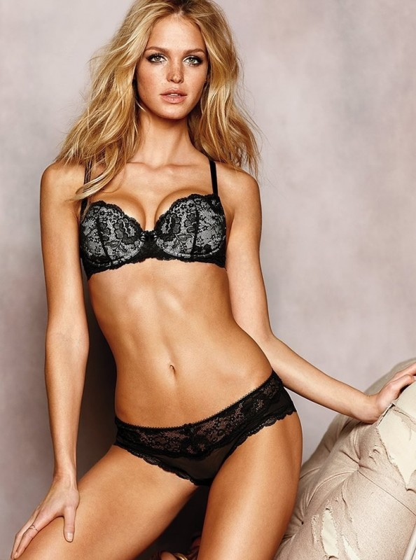 Erin Heatherton in black panties