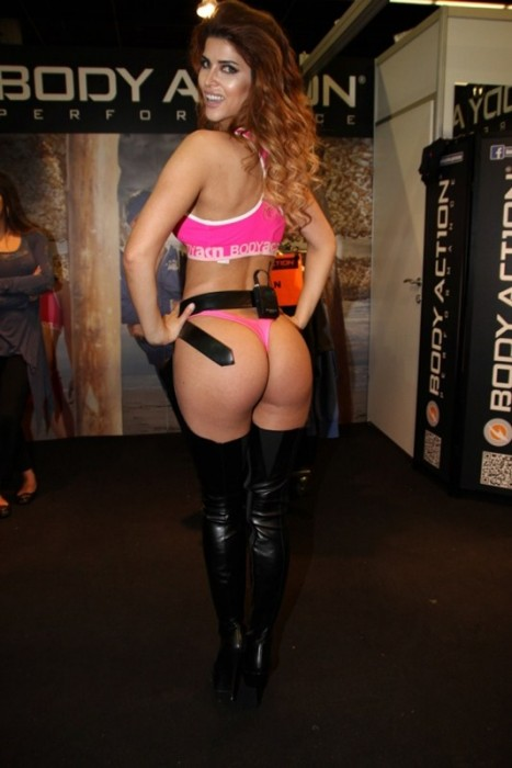 Micaela Schaefer Showing Sexy Booty at FIBO POWER 2015