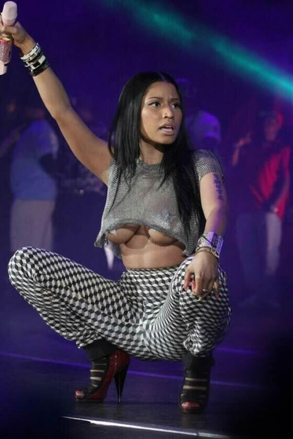 Nicki minaj breasts bout to pop out