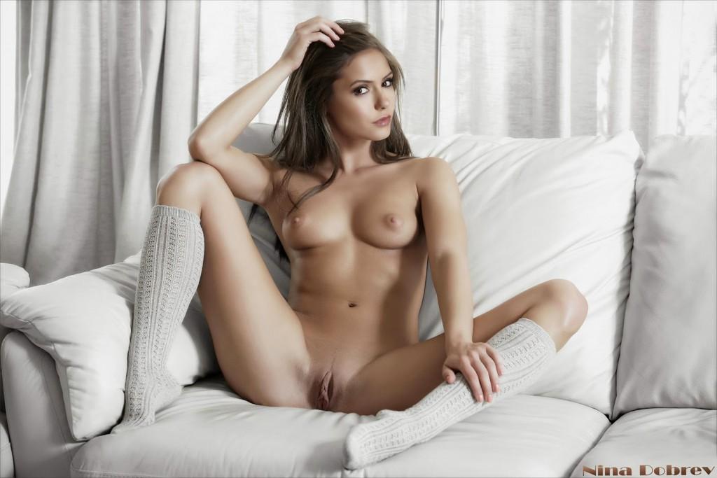 Nina Dobrev Naked Sweet Pussy