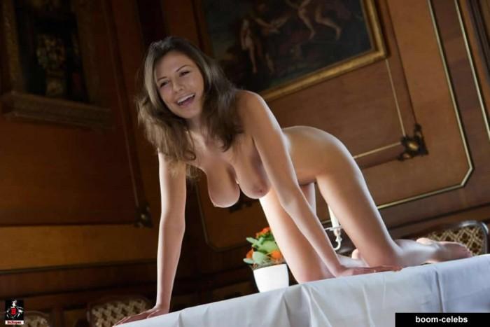 Rhona Mitra Nude Posing