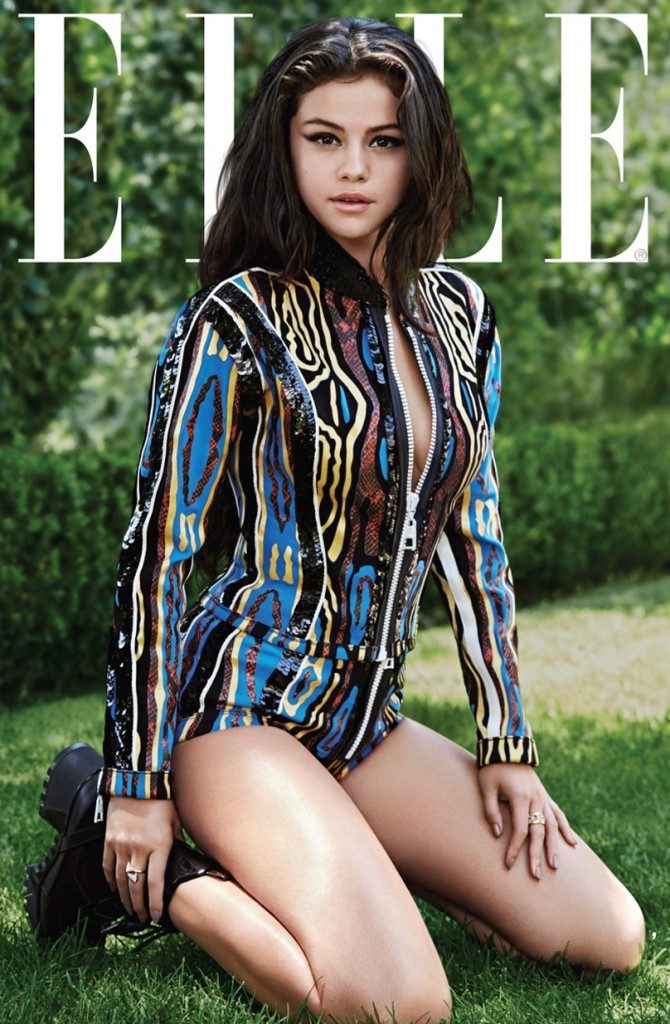 Selena Gomez ELLE Louis Vuitton Jacket and Shorts