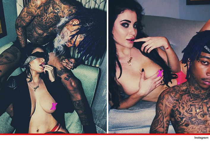 Sex tape leak of Carla Howe and Wiz Khalia Instagram