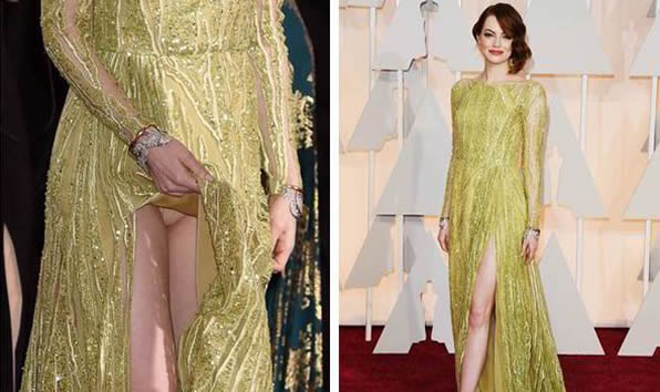 Sexy Emma Stone Flashing Panties under her Dress in Public