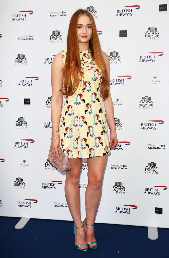 Sophie Turner Hot Dress