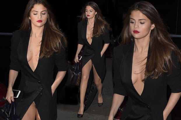 Pants! Selena Gomez flashes her knickers