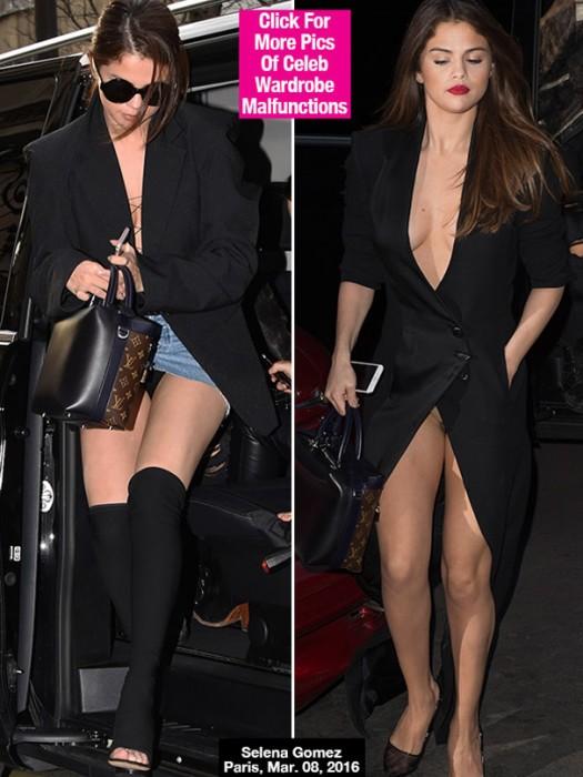 Selena Gomez Flashes Underwear Twice In One Day In Paris