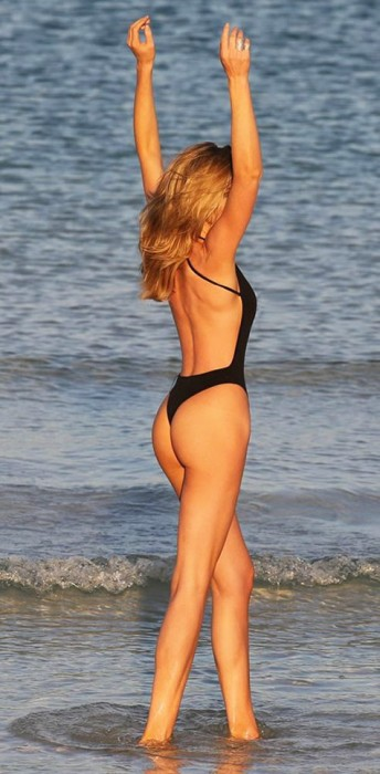 Abbey Clancy in hot swimsuit