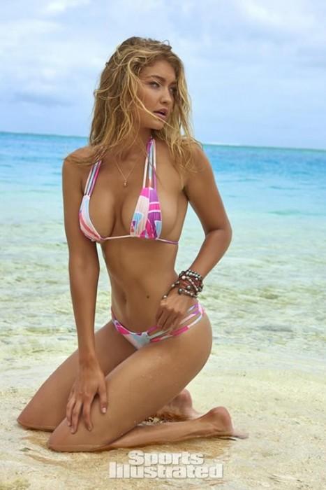 Gigi Hadid Sexy Photos Sports Illustrated Swimsuit 2016