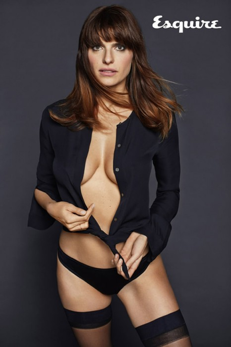 Lake Bell in black panties