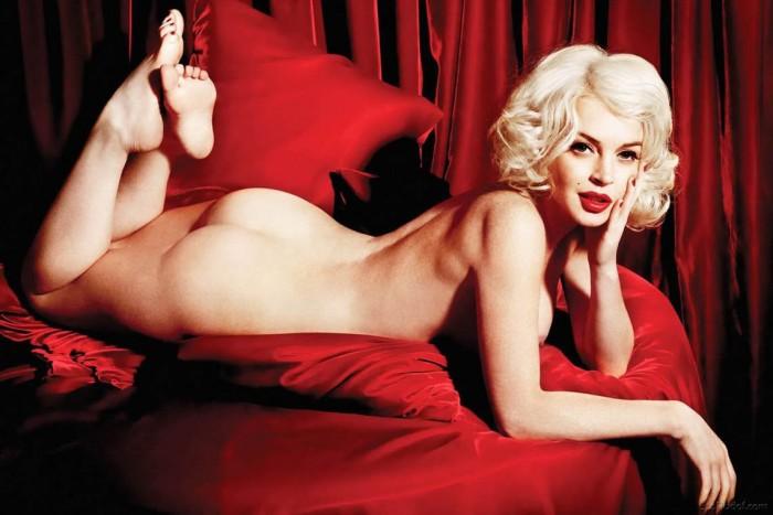 Lindsay Lohan Marlyn Monro Naked
