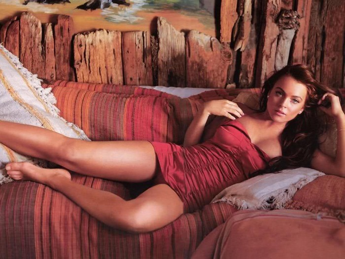 Lindsay Lohan sexy dress