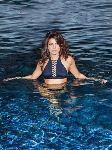 Priyanka Chopra in black bikini - Esquire