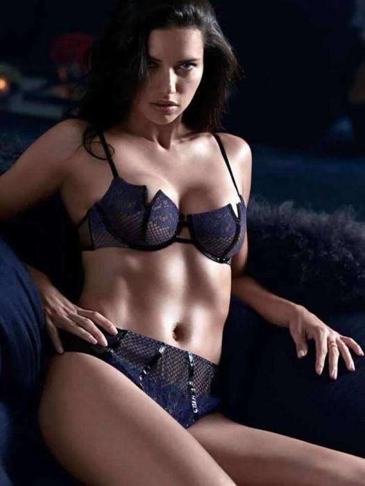 Adriana Lima hot bra and panties