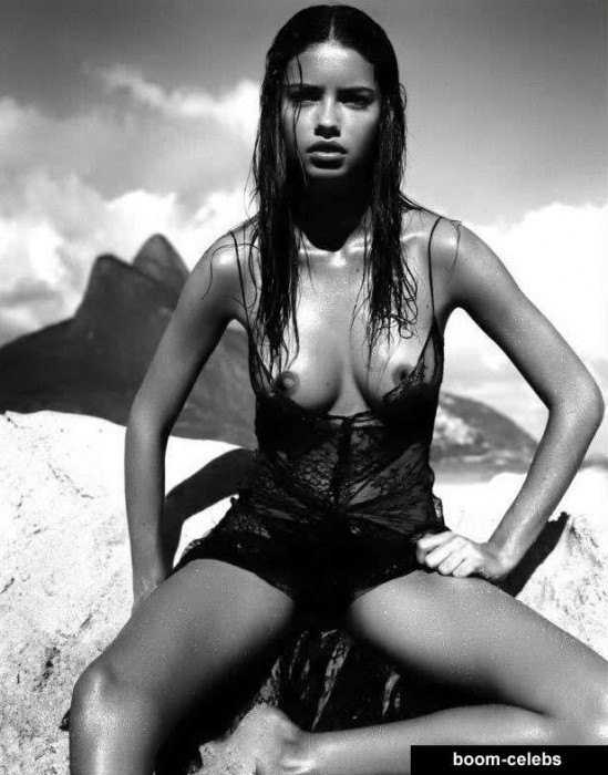 Adriana Lima sweet nipples and sexy boobs