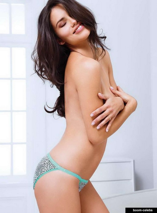 Adriana Lima topless hot model