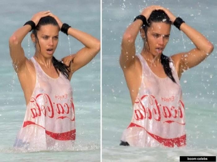 Adriana Lima upskirt nipples