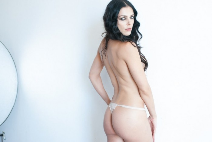 Adrianne Curry Naked Photoshoot in white panties