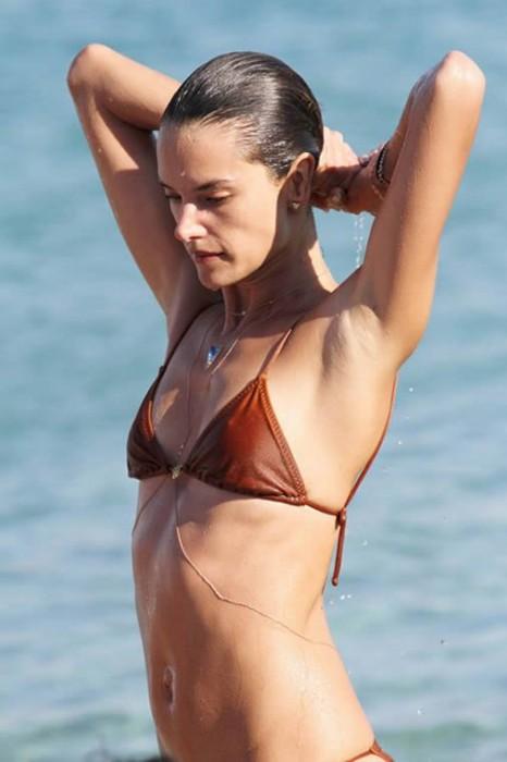 Alessandra Ambrosio in bikini Mykonos