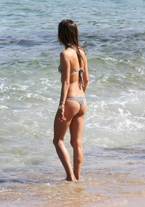 Alessandra Ambrosio in bikini at the beach Mykonos