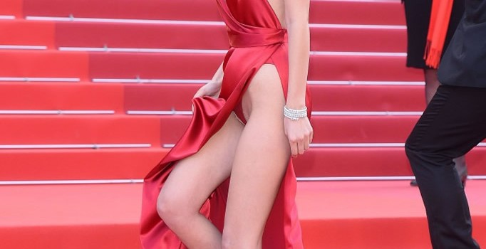 Bella Hadid in Red Dress (25 Photos)