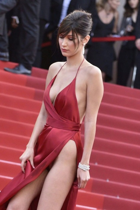 Bella Hadid In Red Dress 25 Photos Celebrity Nude Leaked Pictures And Sex Tapes The Fappening