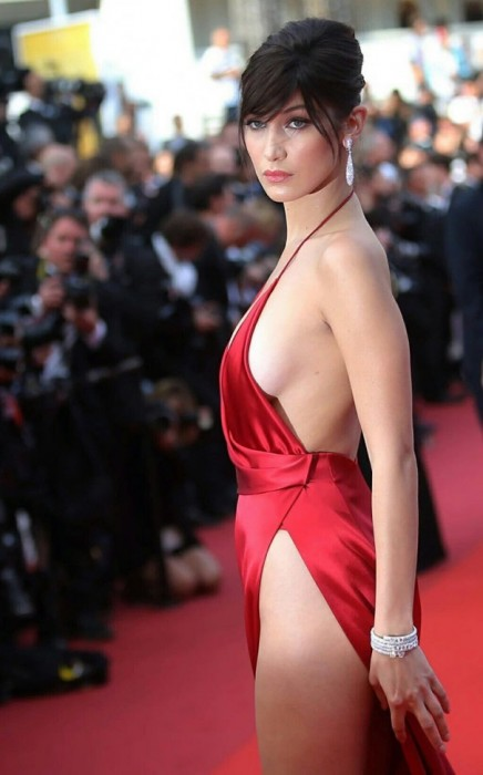 Bella Hadid sexy dress