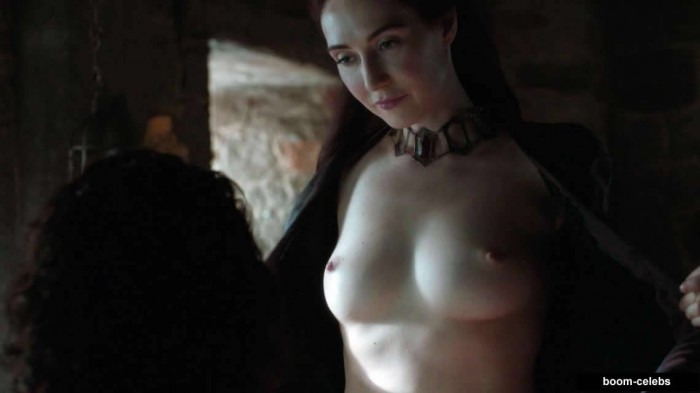 Carice van Houten showing her boobs