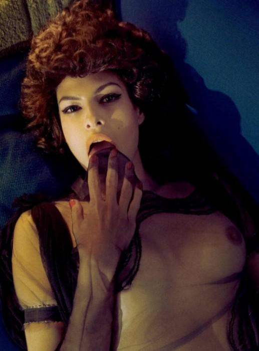 Eva Mendes Naked Nip Slip