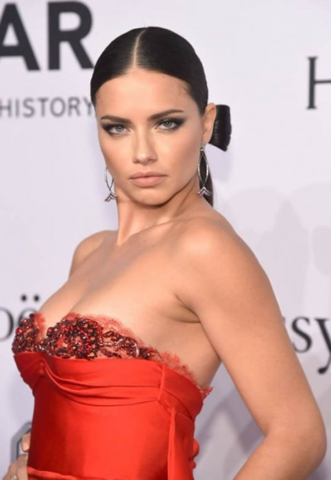 Hot Adriana Lima at the amfAR New York Gala 2016