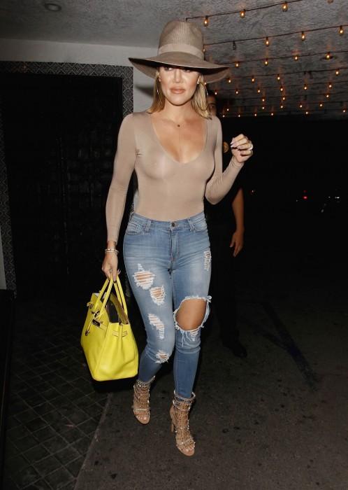 Khloe Kardashian See Through Casa Vega