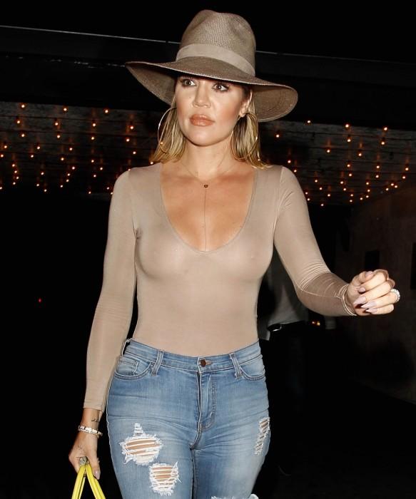 Khloe Kardashian nip slips