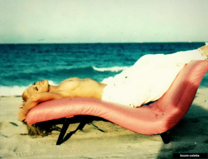 Madonna on the beach