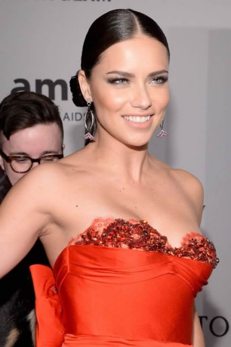 Sexy Adriana Lima at the amfAR New York Gala 2016